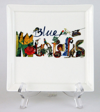 CFP84: Blue Mountains Small Platter & Stand