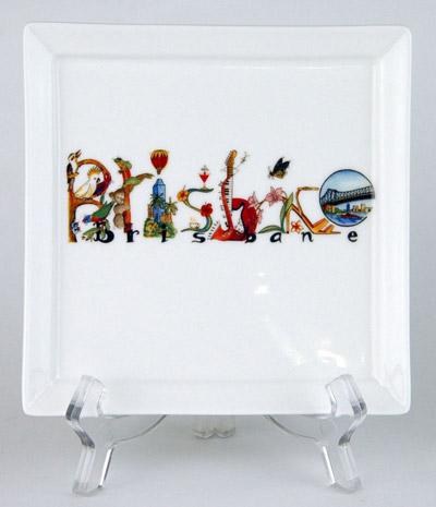 CFP93: Brisbane Australia Small Platter & Stand