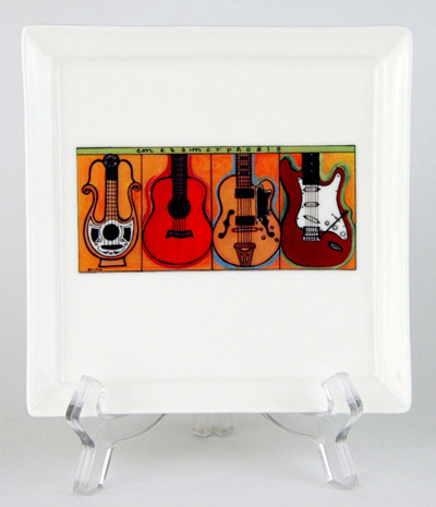 CFP28: Guitars Small Platter & Stand