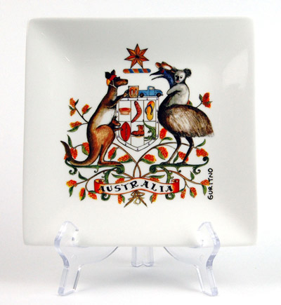 CSQP165: Australian Coat Of Icons Square Platter