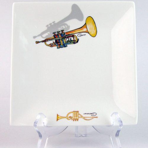 CSQP169: Trumpet Square Platter