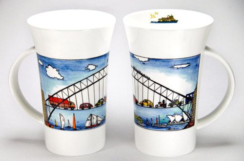 CXLM1: Blue Harbour Large Mug