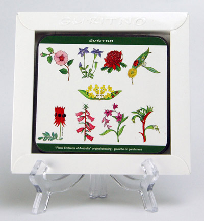 TCS86: Floral Emblems Of Australia Coasters