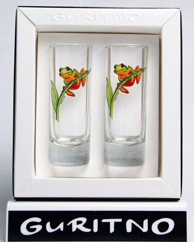 TSG79: Tree Frog Shot Glass Set